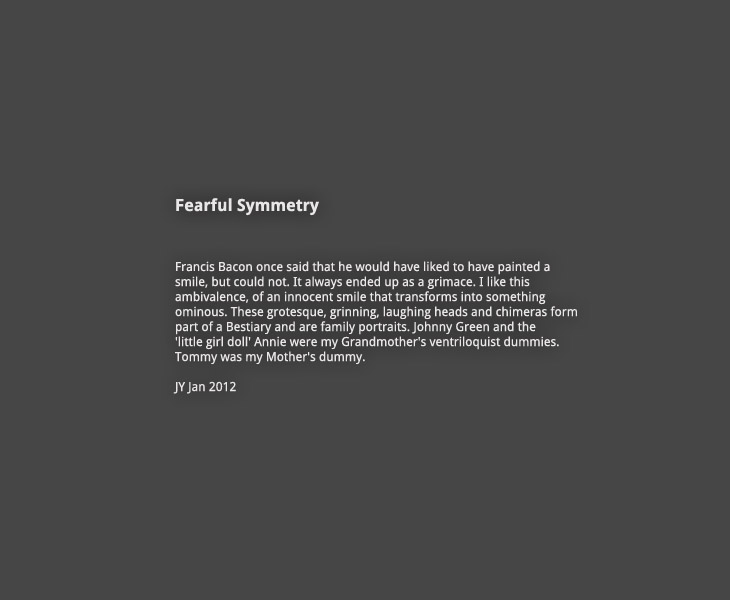 The Fearful Symmetry gallery introduction