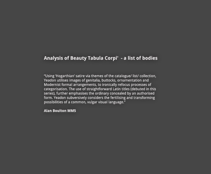 Analysis of Beauty: Introduction