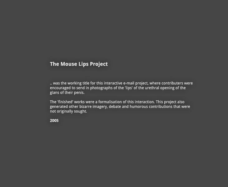 The Mouse Lips Project: Introduction