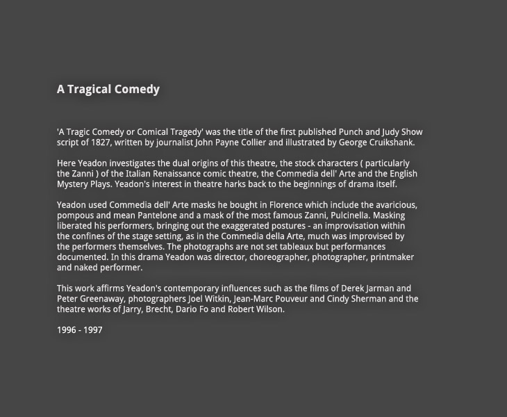 A Tragical Comedy:  Introduction