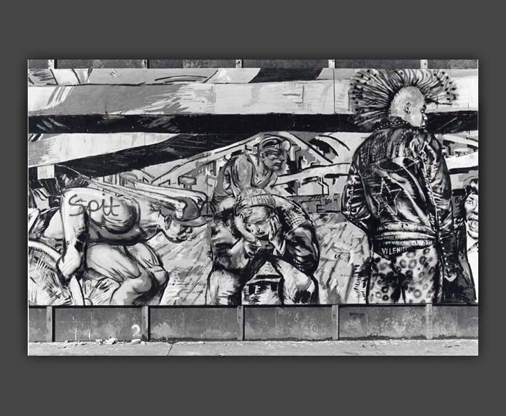 The Giro City Mural, Detail 3 b/w