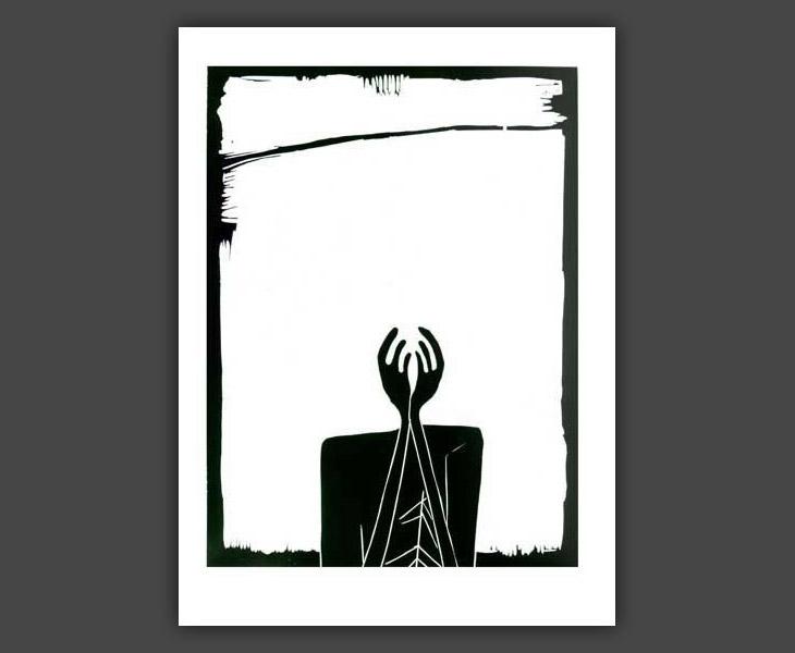 Head (woodcut)  [1968]