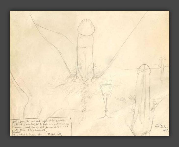 Self Portrait - Totem Landscape Study  [1968]