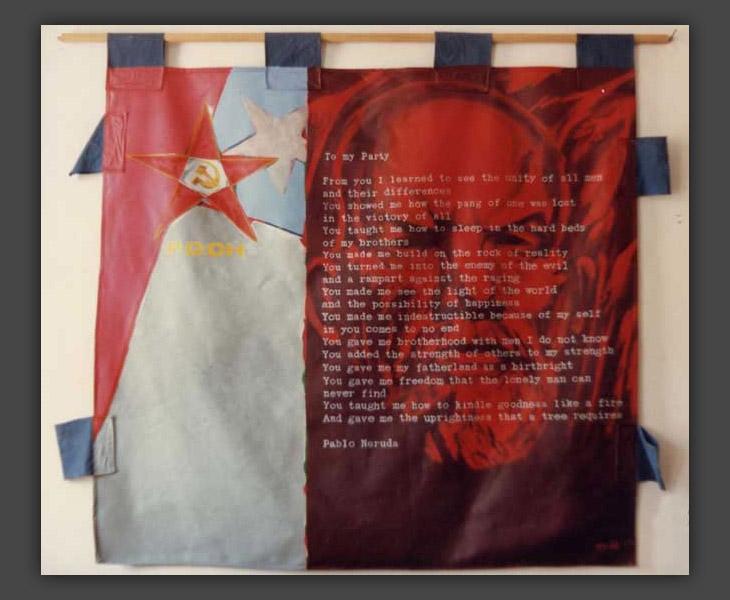 1981/7: Chile Banner, back