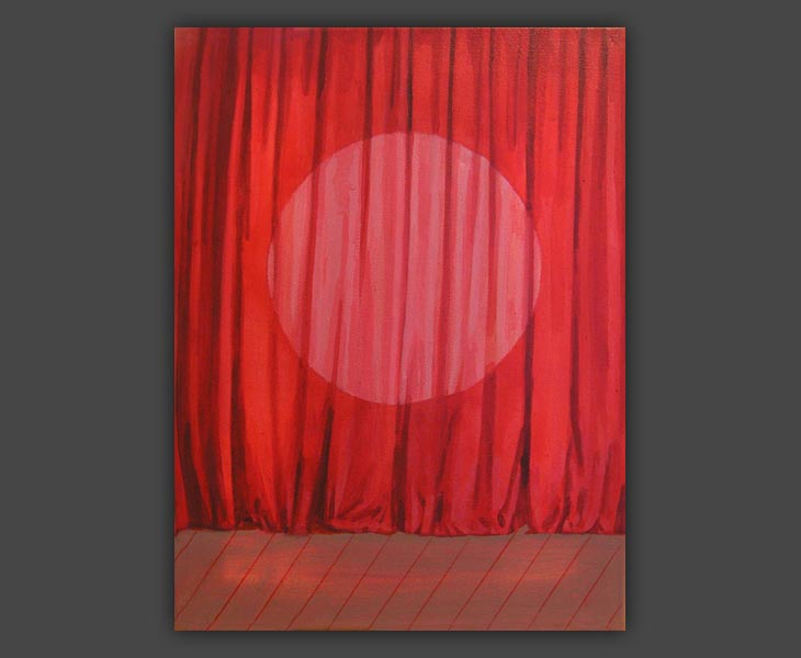 Red Curtain with Spot