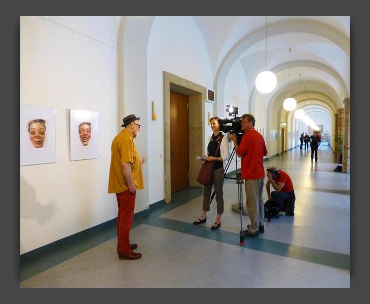 Auf Papier. Rathaus Dresden. MDR TV